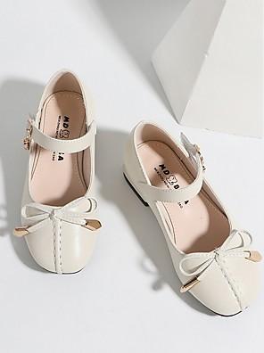 preiswerte Für Junge Frauen-Mädchen Flache Schuhe Komfort PU Kleine Kinder (4-7 Jahre) Weiß / Schwarz / Rosa Sommer