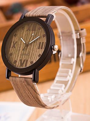 cheap Quartz Watches-Women's Quartz Watches Quartz Stylish Fashion Casual Watch Khaki Analog - Light Brown Lace Dark Brown Lace Golden / Brown One Year Battery Life