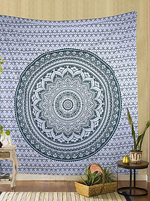 cheap Wall Tapestries-Mandala Bohemian Wall Tapestry Art Decor Blanket Curtain Hanging Home Bedroom Living Room Dorm Decoration Boho Hippie Psychedelic Floral Flower Lotus Indian