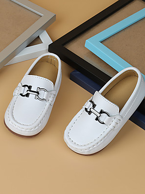 cheap Bras-Boys' Loafers & Slip-Ons Moccasin Microfiber Little Kids(4-7ys) White / Black Summer