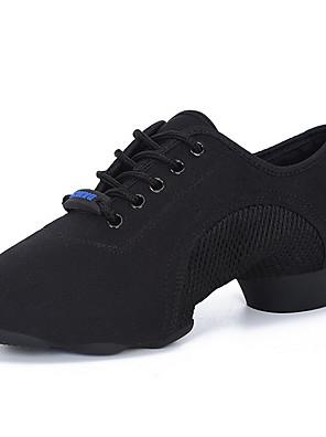 baratos Conjuntos para Meninos-Mulheres Sapatos de Dança Sapatos de Dança Latina Sapatilha Sem Salto Preto