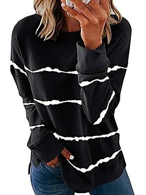 ieftine Bluze Damă-Pentru femei Bluză Mată Simplu Manșon Lung Rotund Topuri Larg Topul de bază Alb Negru Albastru piscină