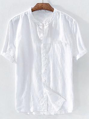baratos Vestidos para Meninas-Homens Camiseta Férias Manga Curta Blusas Branco Azul Céu