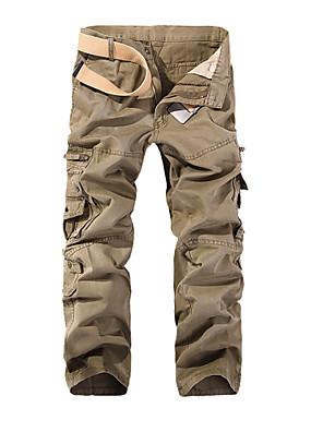 cheap Men's Pants & Shorts-Men's Basic Daily Loose Cotton Tactical Cargo Pants Solid Colored Patchwork Spring Fall Black Army Green Khaki US32 / UK32 / EU40 US34 / UK34 / EU42 US36 / UK36 / EU44