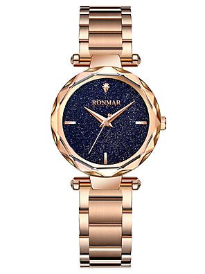 cheap Quartz Watches-RONMAR Women's Sport Watch Quartz Modern Style Stylish Outdoor Water Resistant / Waterproof Stainless Steel Black / Gold / Purple Analog - Rose Gold Black Gold