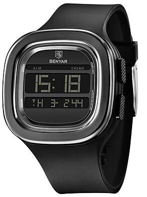 cheap Sport Watches-BENYAR Men's Sport Watch Digital Modern Style Sporty Outdoor Calendar / date / day Silicone Black Digital - Black / Chronograph