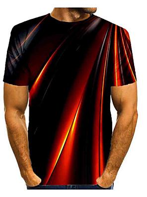 cheap Men's Tees-Men's T shirt Shirt Graphic Print Short Sleeve Daily Tops Basic Round Neck Rainbow