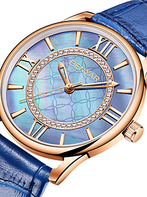 cheap Quartz Watches-BENYAR Women's Quartz Watches Quartz Modern Style Stylish Casual Water Resistant / Waterproof Genuine Leather Analog - White+Red White+Pink Blue