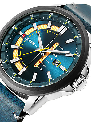 cheap Sport Watches-Men's Dress Watch Quartz Formal Style Modern Style Classic Water Resistant / Waterproof Leather Black / Blue / Red Analog - Black Red Green One Year Battery Life / Japanese / Calendar / date / day