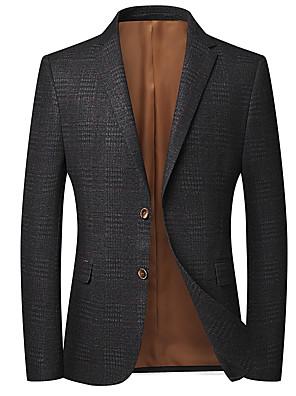 cheap Top Sellers-Men's Notch lapel collar Blazer Gray US32 / UK32 / EU40 / US34 / UK34 / EU42 / US36 / UK36 / EU44