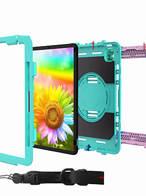 cheap iPad case-Case For Apple iPad Air iPad 4 3 2 iPad Mini 3 2 1 Shockproof Back Cover Solid Colored Plastic Silica Gel for iPad 10.2 iPad Mini 456  iPad 2017  2018