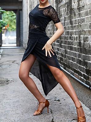 cheap Evening Dresses-Latin Dance Dress Lace Split Joint Women's Performance Lace