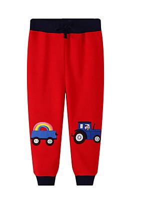 cheap Boys' Tops-Kids Boys' Print Pants Red