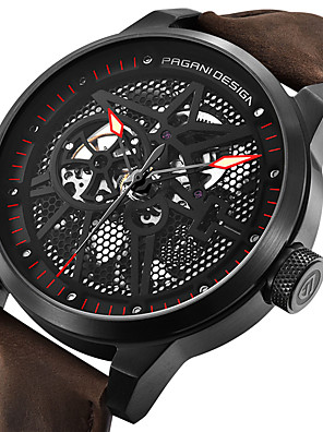 cheap Quartz Watches-BENYAR Men's Mechanical Watch Automatic self-winding Modern Style Stylish Casual Calendar / date / day Stainless Steel Leather Analog - Red+Silver White+Silver Red
