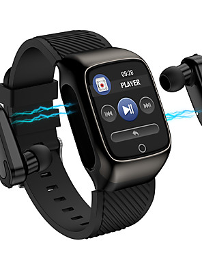 tanie Inteligentne zegarki-Jsbp hs300 mężczyźni kobiety smartwatch tws inteligentny zegarek 2-w-1 bt fitness tracker wsparcie powiadomienie / tętno / sport inteligentny zegarek dla dystrybucji telefonów Apple / Samsung /
