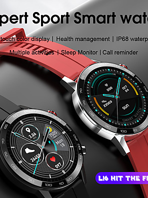 cheap Smart Watches-S16 Smart Watch 1.3 inch HD Touch Screen Men Watches 6 Style Straps Matching Health Monitoring Smartwatch For iOS Android