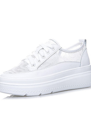 cheap Bikinis-Women's Trainers / Athletic Shoes Summer Flat Heel Round Toe Daily Lace White
