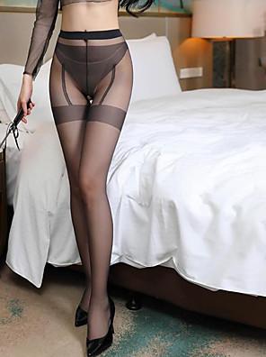 cheap Socks & Hosiery-Women's Thin Pantyhose - Sexy / Lace 30D Black Red Khaki One-Size