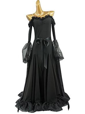 cheap Prom Dresses-Latin Dance Dress Sash / Ribbon Solid Girls' Training Daily Wear Long Sleeve Cotton