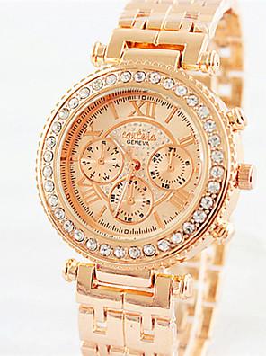 cheap Quartz Watches-Women's Quartz Watches Quartz Stylish Fashion Casual Watch Silver / Rose Gold Analog - Rose Gold Golden+White Gold One Year Battery Life