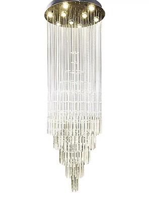 Недорогие Топы для мальчиков-9-световая люстра 50 см уникальный дизайн хрустальная гальваника led 110-120в 220-240в