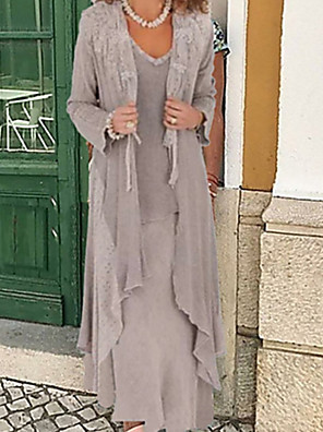 cheap Evening Dresses-Long Sleeve Shrugs Chiffon Wedding / Party / Evening Women's Wrap With Solid