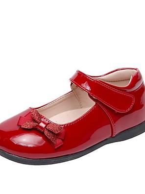 preiswerte Für Junge Frauen-Mädchen Flache Schuhe Komfort PU Kleine Kinder (4-7 Jahre) Schwarz / Rot Sommer
