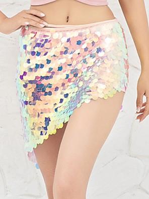 cheap Evening Dresses-Belly Dance Skirts Split Paillette Women's Performance Linen / Cotton Blend