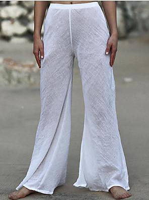 cheap Women's Pants-Women's Basic Holiday Bootcut Pants - Solid Colored White Black Khaki One-Size