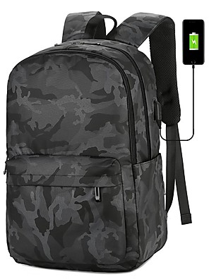 cheap Boys' Tops-Waterproof / Lightweight Commuter Backpack Men's Oxford Cloth Sports & Outdoor / Daily Black / Fall & Winter