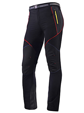 cheap Hiking Trousers & Shorts-Men's Cycling Pants Polyester Bike Pants / Trousers Tights Pants Waterproof Breathable Quick Dry Sports Black / Gray Mountain Bike MTB Road Bike Cycling Clothing Apparel Advanced Relaxed Fit Bike Wear