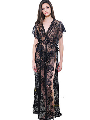 cheap Suits-Women's Lace Split Suits Nightwear Solid Colored White / Black / Red One-Size