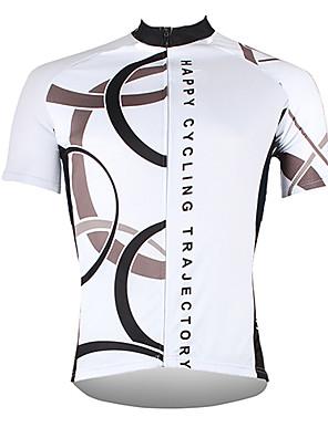povoljno Biciklističke majice-21Grams Muškarci Kratkih rukava Biciklistička majica Poliester Obala Bijela Crvena Bicikl Biciklistička majica Majice Brdski biciklizam biciklom na cesti Prozračnost Quick dry Ultraviolet Resistant