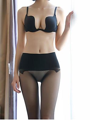 cheap Socks & Hosiery-Women's Thin Pantyhose - Sexy / Lace 30D Black Beige One-Size