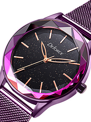 cheap Quartz Watches-DOM Women's Steel Band Watches Quartz Modern Style Stylish Luxury Water Resistant / Waterproof Stainless Steel Rose Gold Analog - Rose Gold Purple / Japanese / Japanese