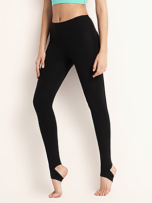cheap Leggings-Women's Yoga Basic Legging - Solid Colored Mid Waist Black Purple Green S M L