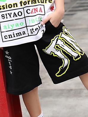 cheap Boys' Tops-Kids Boys' Print Pants Black