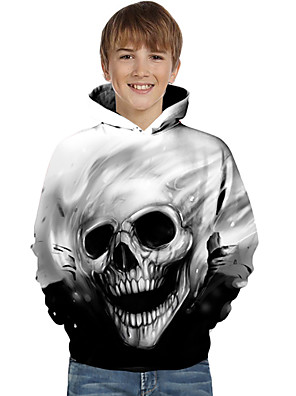 cheap Boys' Tops-Kids Toddler Boys' Active Basic Geometric Color Block Print Long Sleeve Hoodie & Sweatshirt Black