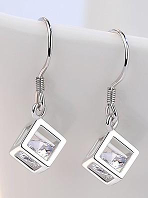 1 Pair Women Silver Small Earring Wavy Leaf Shaped Stud Earrings Fashion Earrings