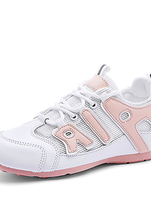 cheap Women's Blouses & Shirts-Women's Trainers / Athletic Shoes Summer Flat Heel Round Toe Sporty Athletic Outdoor Microfiber Running Shoes Pink / White / Black / White / White / Green