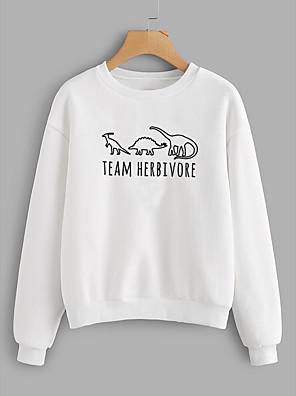 cheap Women's Blouses & Shirts-Women's Daily Pullover Sweatshirt Graphic Letter Casual Basic Hoodies Sweatshirts  Cotton Slim Oversized White Black Yellow