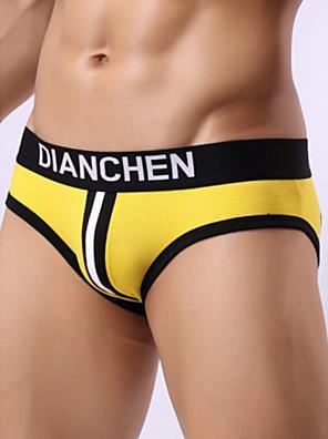 cheap Men's Exotic Underwear-Men's Cut Out Briefs Underwear - Normal Low Waist White Black Red M L XL