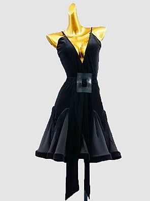 cheap Prom Dresses-Latin Dance Dress Sash / Ribbon Girls' Training Daily Wear Sleeveless Cotton