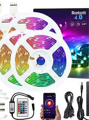 economico Tute e tutine da uomo-KWB mt 4x5 Set luci Strisce luminose RGB Luci intelligenti 600 LED SMD5050 10mm 1x connettore da 1 a 4 cavi 1 set Colori primari Controllo APP Accorciabile Collagabile 12 V / Auto-adesivo