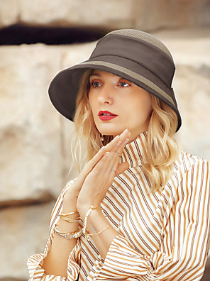 cheap Cocktail Dresses-Polyester Straw Hats with Bowknot 1pc Casual / Daily Wear Headpiece