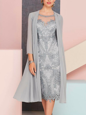 cheap Homecoming Dresses-3/4 Length Sleeve Shrugs Chiffon Wedding / Party / Evening Women's Wrap With Solid