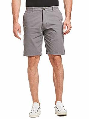 cheap Men's Pants & Shorts-but& #39;s shorts casual slim fit chino shorts dress shorts & #40;gray, size 32& #41;