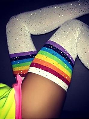 cheap Socks & Hosiery-Women's Warm Stockings - Rainbow / Sexy Lady / Christmas 150D White Black One-Size