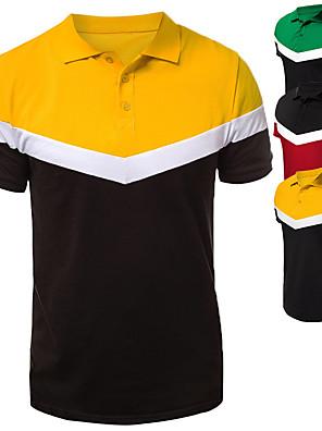 preiswerte Herren Polo Shirts-Herrn T-shirt Urlaub Kurzarm Oberteile Rote Gelb Grün