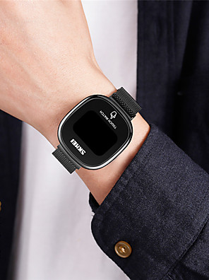 billige Smart Watches-SKMEI Herre Digital Watch Digital Moderne Stil Elegant Fritid Vannavvisende Rustfritt stål Svart / Sølv / Rose Gull Digital - Svart+Gylden Svart Sølv Ett år Batteri Levetid